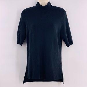 CATHERINE MALANDRINO M Black Mock Neck Sweater